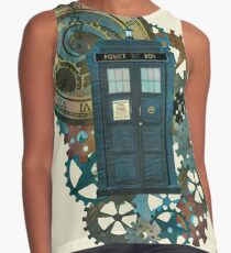 TARDIS Art Doctor Who  Contrast Tank
