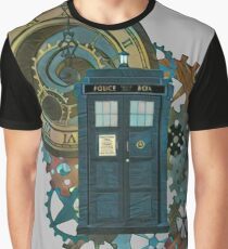 TARDIS Art Doctor Who  Graphic T-Shirt