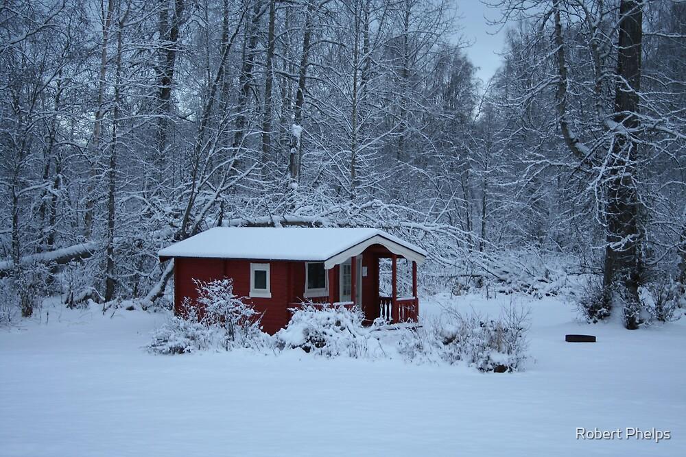 Winter Cabin by Robert Phelps