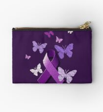Bolso de mano Cinta púrpura de la conciencia con las mariposas 82fe8bfa0735f