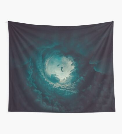 Stronger... (Round Things) Wall Tapestry