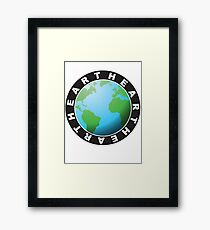 Porthole Earth, the Beating Heart of Humanity Framed Print