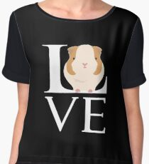 Love Guinea Pigs Funny Animal Lover Women's Chiffon Top