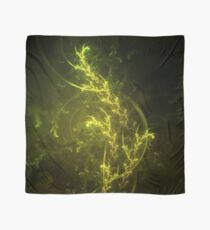 Beautiful Emerald Fairy Ferns in a Magical Fractal Forest Scarf