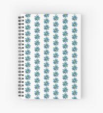Blue/Green Flower Spiral Notebook