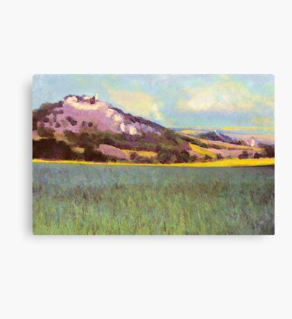 Falkenstein Landscape In Lower Austria Canvas Print