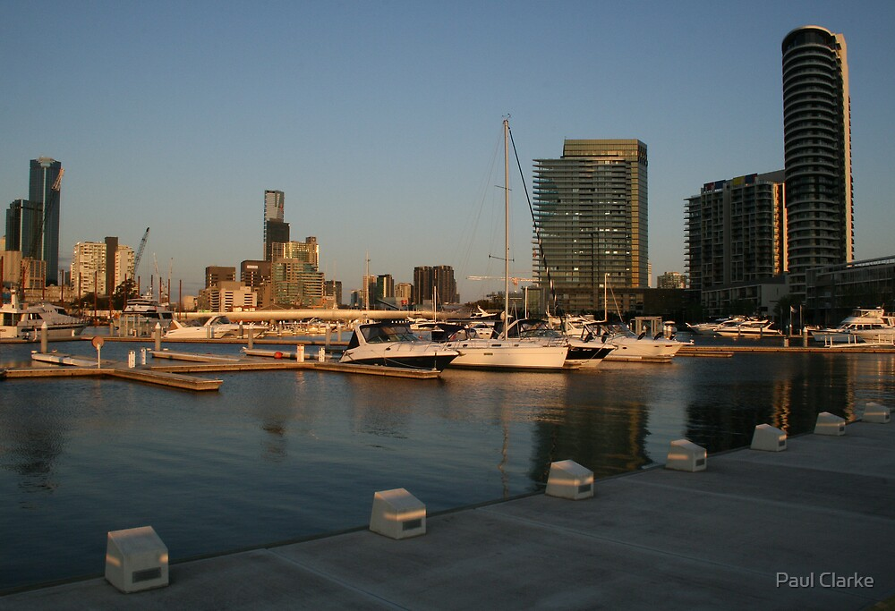 Docklands at Sunset - Melbourne by Paul Clarke