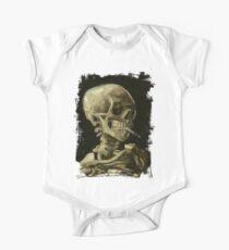 Skull Of A Skeleton With A Burning Cigarette - Vincent Van Gogh Kids Clothes