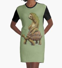 Speed is Relative Graphic T-Shirt Dress