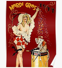 NEW ORLEANS: Vintage Mardi Gras Advertising Print Poster