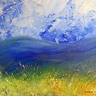 Clouds, mountains, grasslands by Elizabeth Kendall