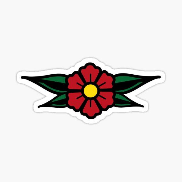 Traditional Flower Design Sticker