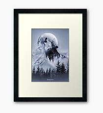 Howl with the Wolf Framed Print