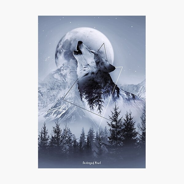 Howl with the Wolf Photographic Print