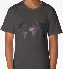 Space Continents Long T-Shirt