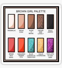 BROWN GIRL PALETTE Sticker