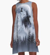 Howl with the Wolf A-Line Dress