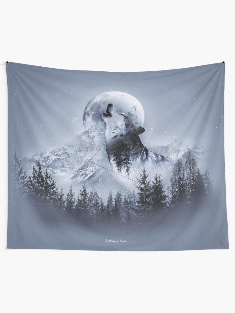 Alternative Ansicht von Howl with the Wolf Wandbehang