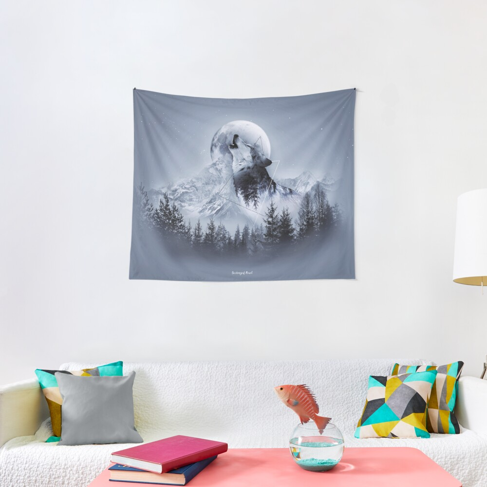 Howl with the Wolf Wandbehang