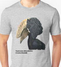 Crested Hornbill Bird Handsome Bill and Feathers Unisex T-Shirt