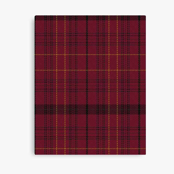 Scotland Tartan Map Pink Canvas Wall Art Print