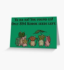 The Legend of Zelda: Breath of the Wild Koroks Greeting Card