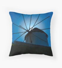 Chora windmill  Throw Pillow