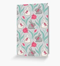 Bunny floral pattern Greeting Card