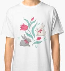 Bunny floral pattern Classic T-Shirt