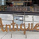Antiques Shop Sign by Ethna Gillespie