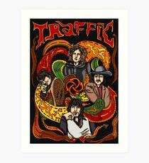Traffic band, Steve Winwood Art Print