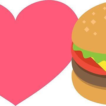 I Love Burgers by jerrygrey