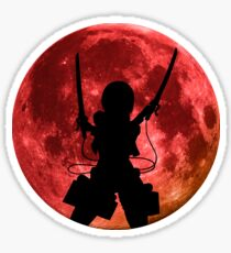 Mikasa Inspired Moon Anime Shirt Sticker