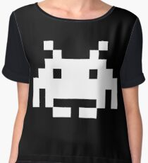 Space Invaders Women's Chiffon Top