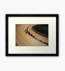 bicycle race pursuit Framed Print