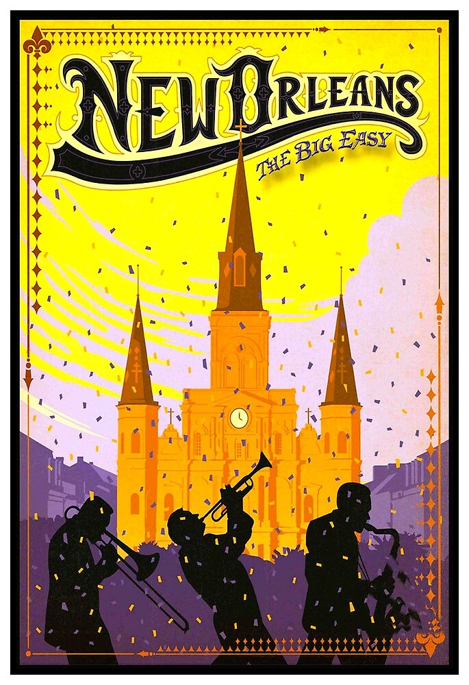 NEW ORLEANS: Vintage Mardi Gras Advertising Print by posterbobs