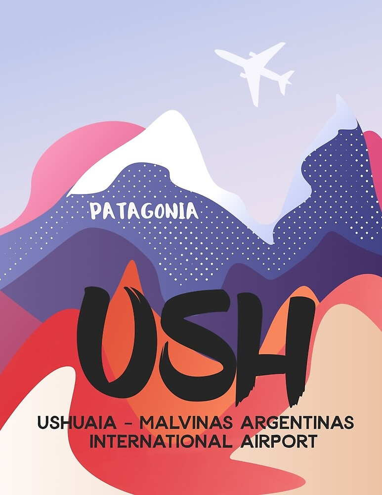 Ushuaia – Malvinas Argentinas International Airport by Airport Style Stickers