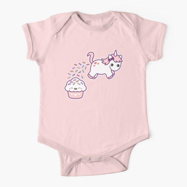 Sprinkle Poo  Short Sleeve Baby One-Piece