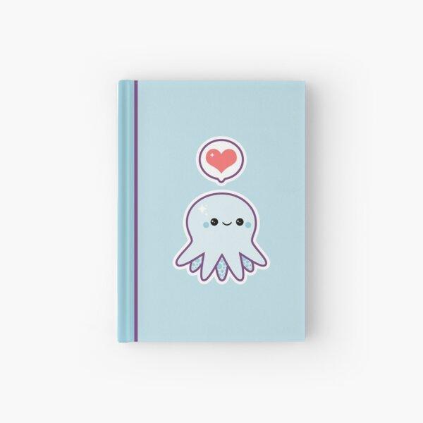 Cute Blue Octopus Hardcover Journal