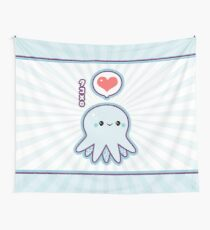 Cute Blue Octopus Wall Tapestry