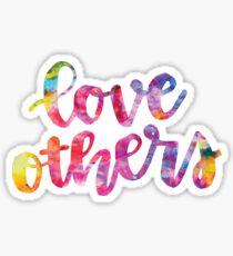 love others rainbow Sticker