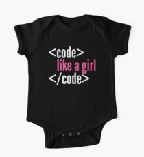 Code like a girl programming Kids Clothes