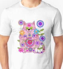 Cute Flower Power Cat Unisex T-Shirt