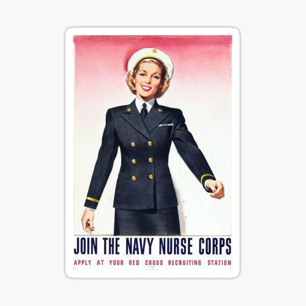 Vintage Navy Nurse Corps World War 2 Enlistment Sticker