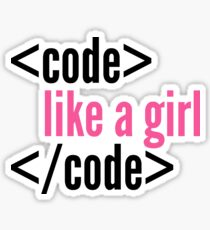 Code like a girl programming Sticker