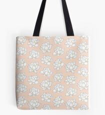 lotus flower peach Tote Bag