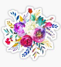 Romantischer Rosen-Blumen-Blumenstrauß # 1 Sticker