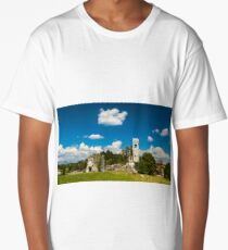 ancient and ruined castle in the italian countryside Long T-Shirt