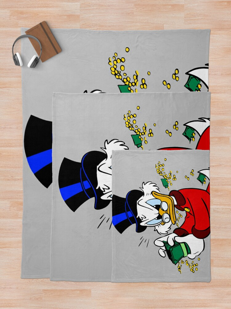 Alternate view of Scrooge McDuck Throw Blanket