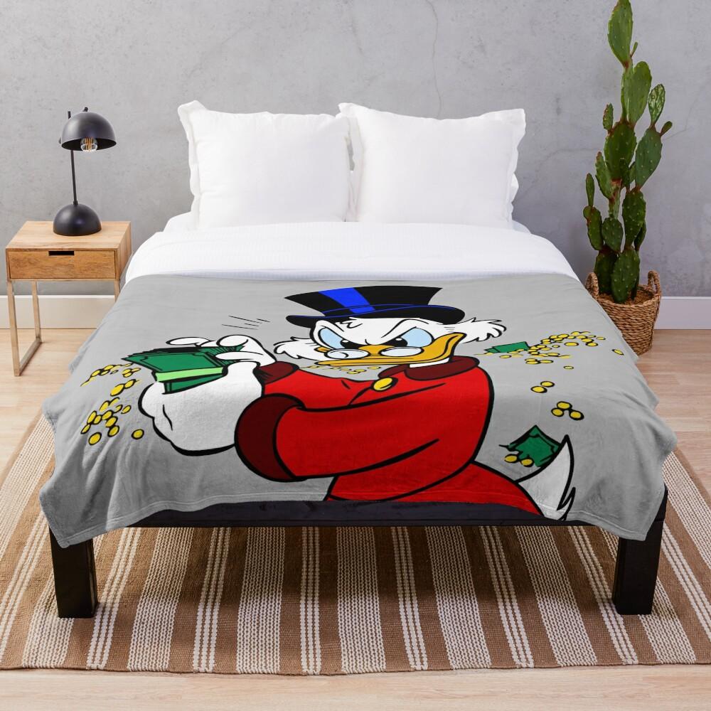 Scrooge McDuck Throw Blanket